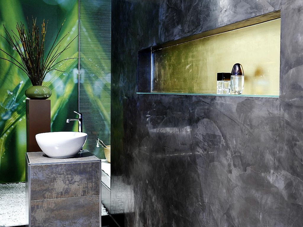 wand06 senza: Das fugenlose Bad aus Kalk Marmor Putz ...